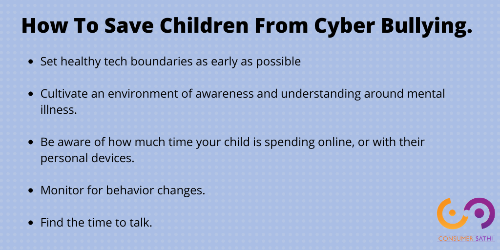 Save children from cyber bullying